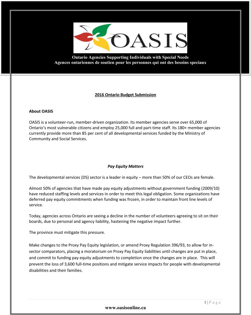 OASIS Pre Budget Submission 2016-final pg1