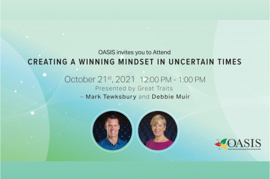 OASIS WEBINAR: Olympian Mark Tewksbury and Olympic Coach Debbie Muir Present: Creating a Winning Mindset in Uncertain Times